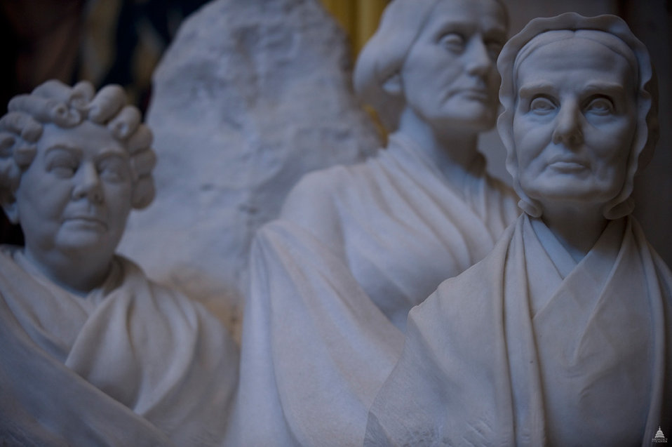 Portrait Monument to Lucretia Mott, Elizabeth Cady Stanton and Susan B. Anthony