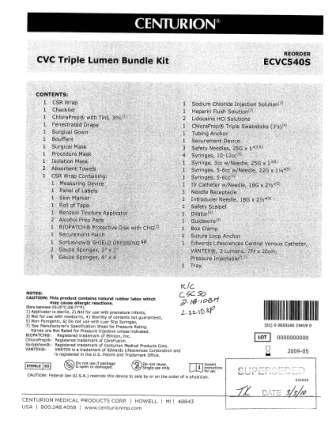 RECALLED - Convenience kits which contain bacteriostatic sodium chloride solution by American Regent