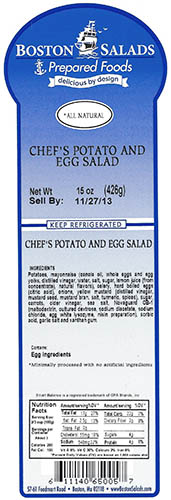 RECALLED – Prepared salads