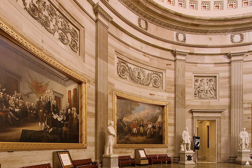 Walls of the U.S. Capitol Rotunda