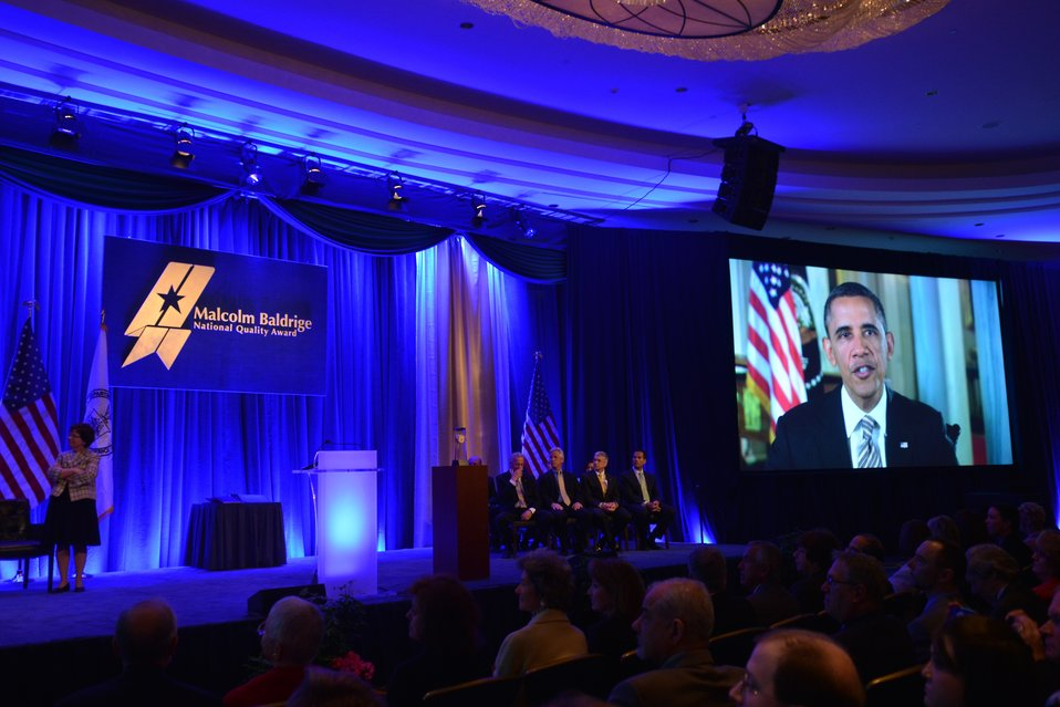President Obama Video 2012 Baldrige Award Ceremony
