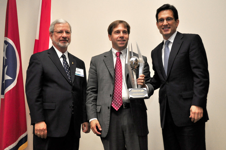 Tennessee Valley Corridor Summit L to R Gerald Boyd, Congressman Chuck Fleischmann, and Congressman Eric Cantor Majority Leader  Oak Ridge