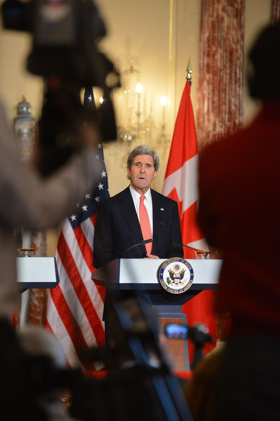 Secretary Kerry Addresses Reporters at the North American Trilateral Ministerial