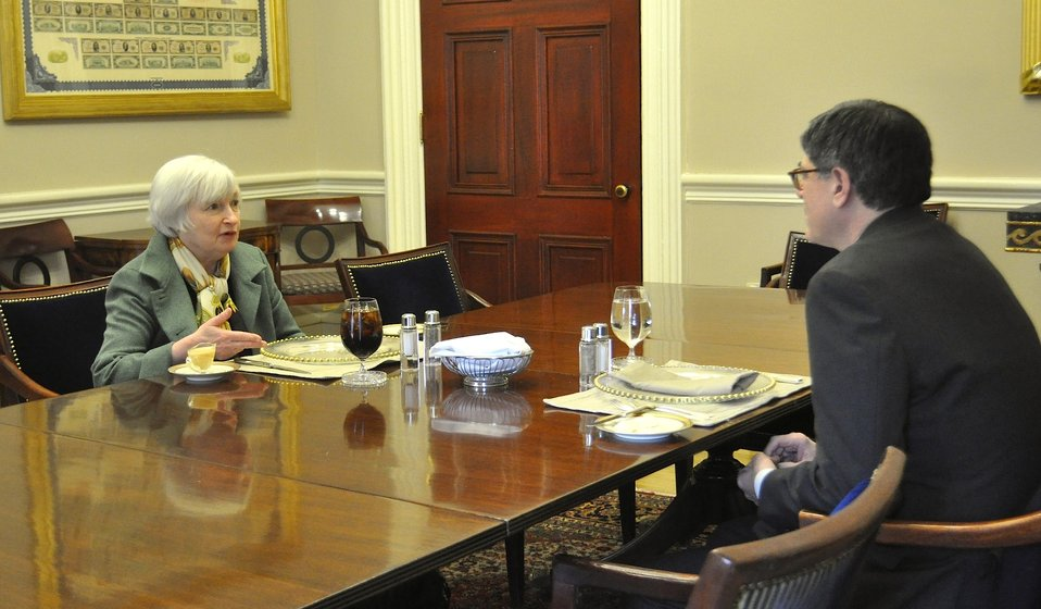 First weekly lunch meeting with Federal Reserve Chair Janet Yellen