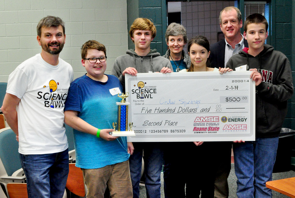 Cedar Springs Home School Association Second Place DOE Middle School Science Bowl