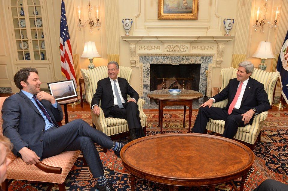 Secretary Kerry Meets With Ben Affleck