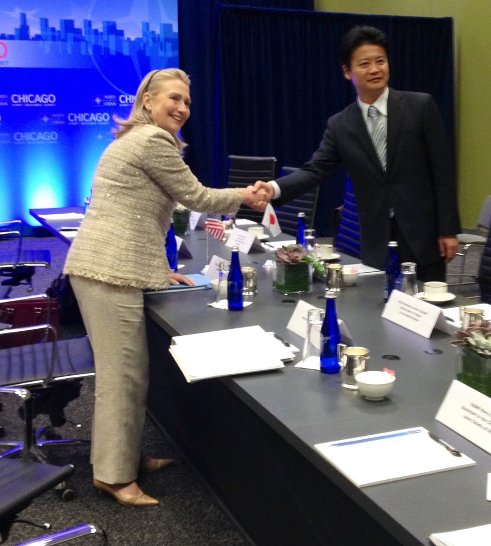 Secretary Clinton Meets With Japanese Foreign Minister Gemba