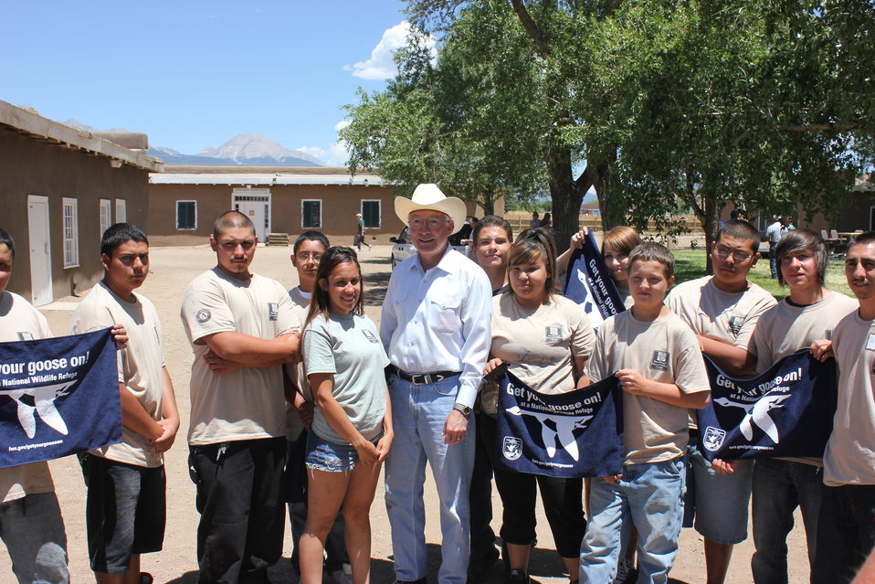 Secretary Salazar and Southwest Conservation Corps Youth