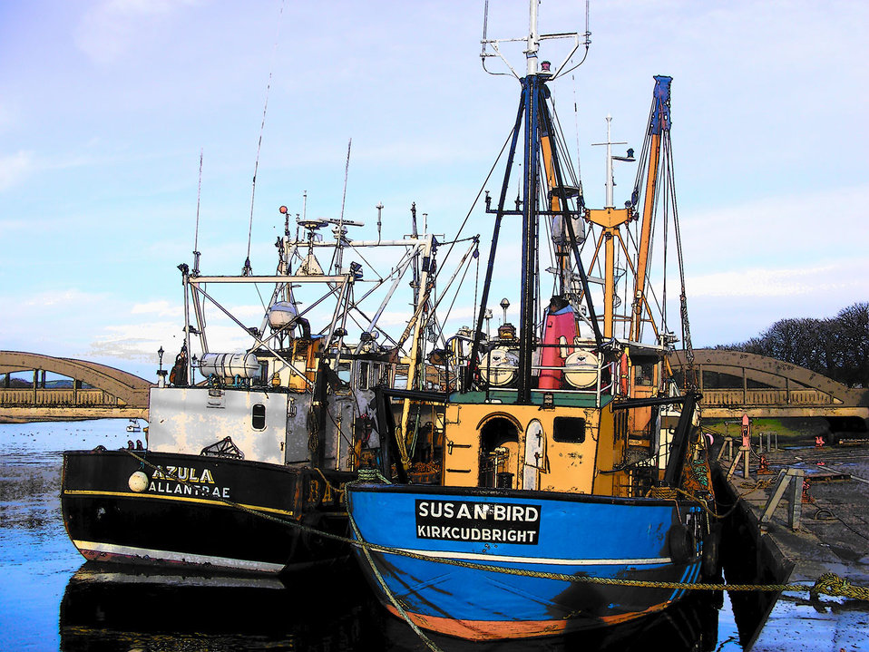 Trawlers alongside