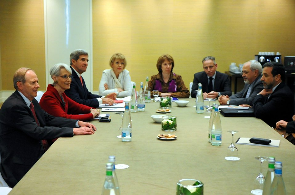 Secretary Kerry, EU High Representative Ashton, and Iranian Foreign Minister Zarif Meet