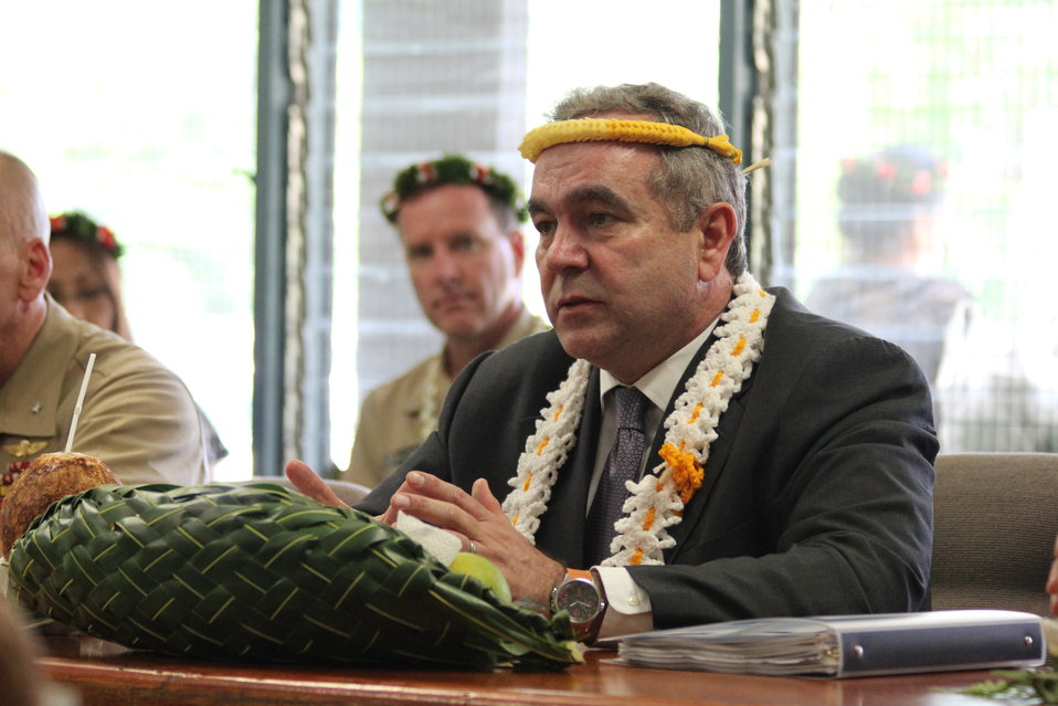 Assistant Secretary Campbell speaks at a courtesy call at Federated States of Micronesia Congress