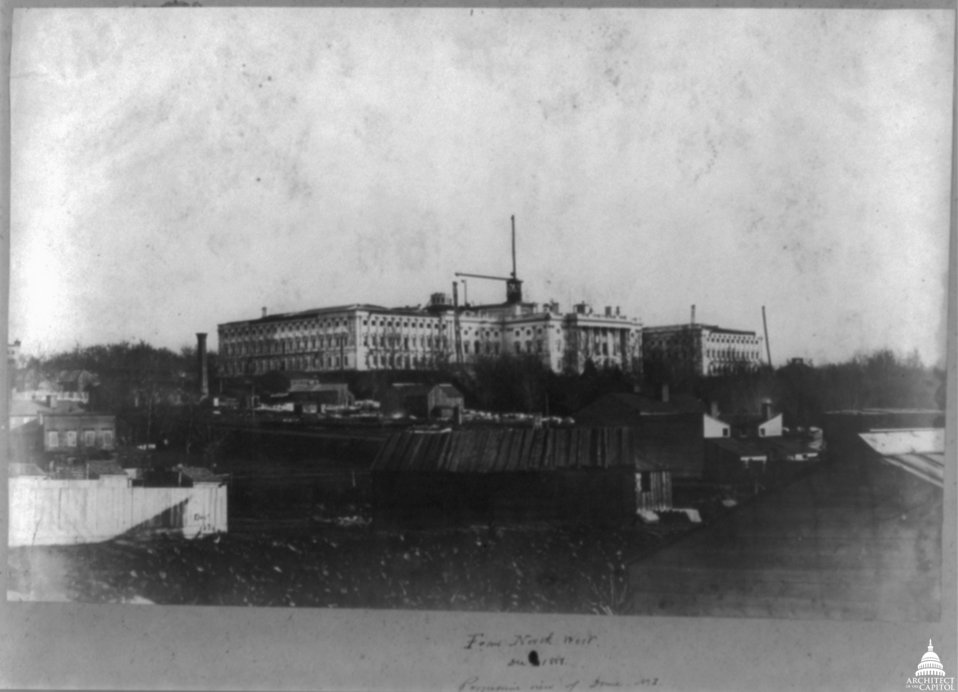 Early Dome Construction 1858