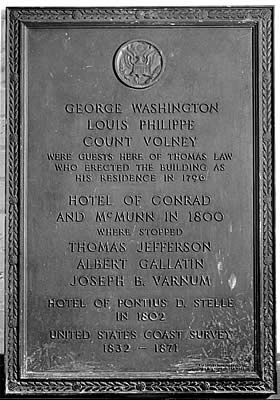 Conrad and McMunn  Hotel Plaque