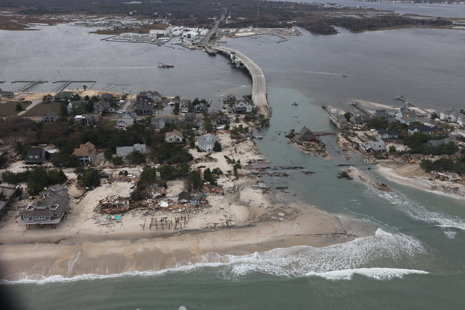 Storm damage along the New Jersey coast