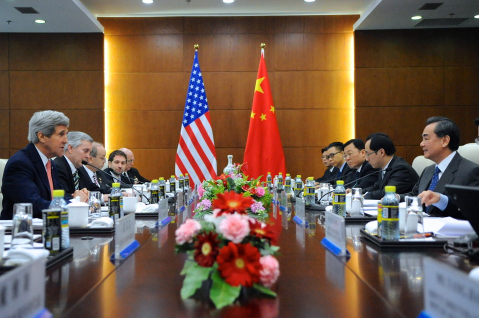 Secretary Kerry Meets With Chinese Foreign Minister Wang