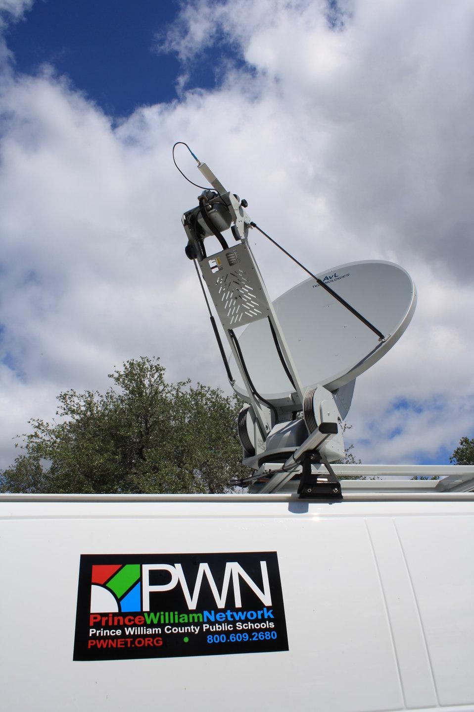 Prince William Network van and satellite uplink