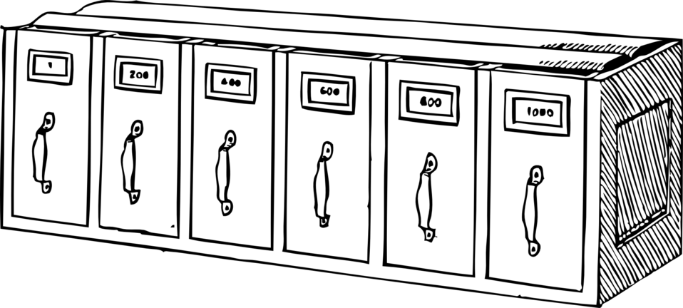 horizontal document trays