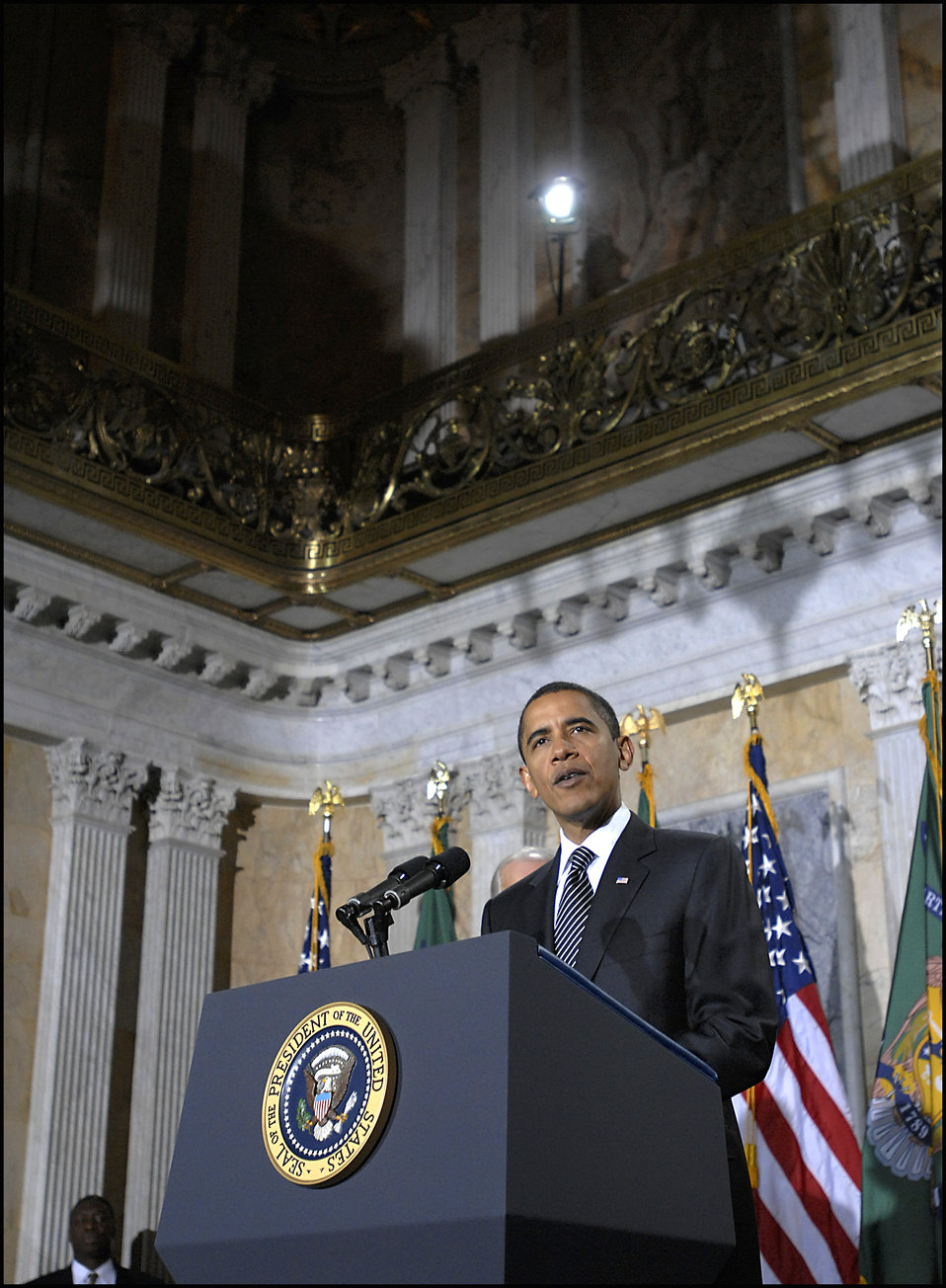 President Obama at Secretary Geithner's swearing-in