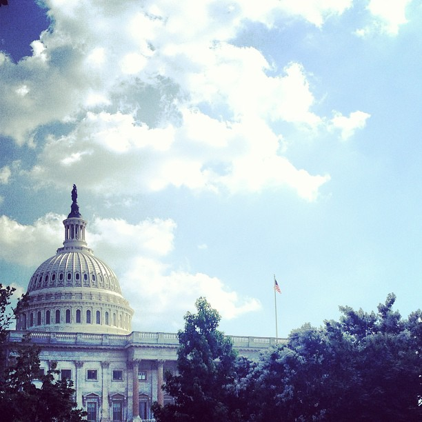 Capitol on a hot afternoon in #DC.