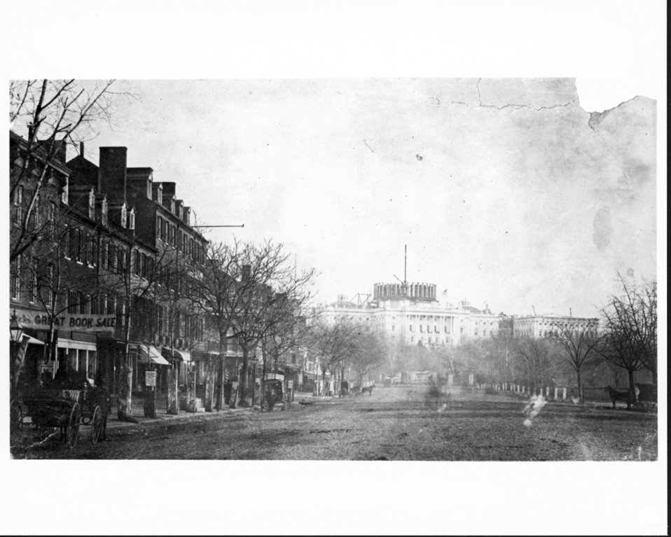 Penn. Ave View of Capitol c.1858