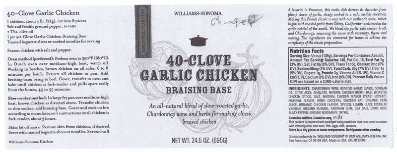 40-Clove Garlic Chicken Braising Base