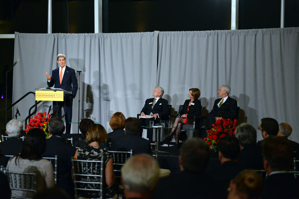 Secretary Kerry Delivers Remarks at the Ploughshares Fund Gala