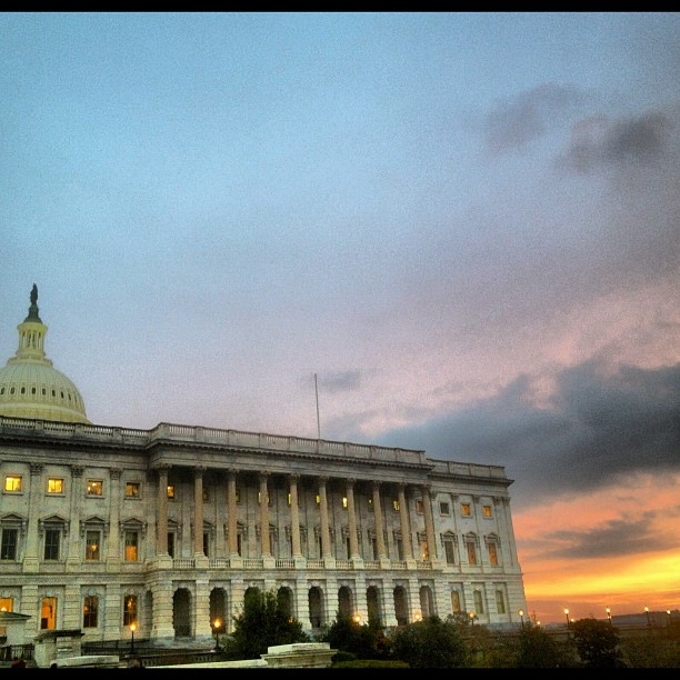 Sunset at the Capitol.