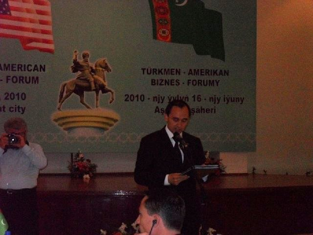A Diplomat Addresses the First Annual Bilateral Consultations Between Turkmenistan and the United States