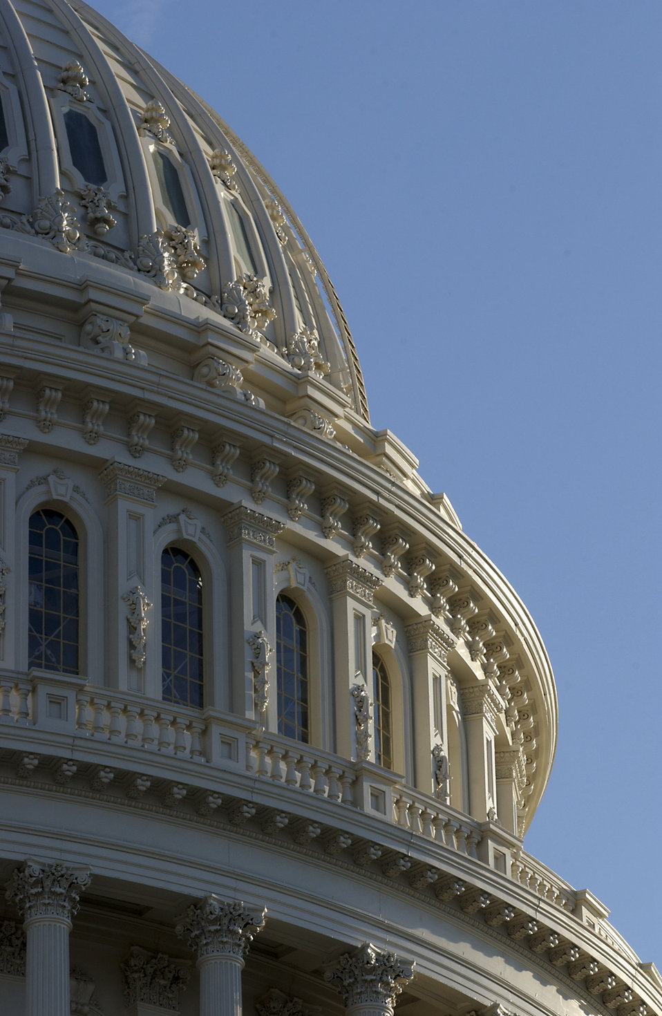 Close up view of the U.S. Capitol