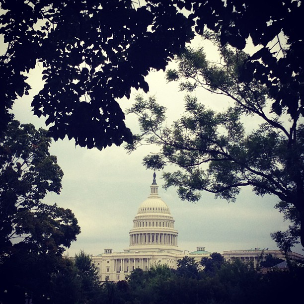 Capitol on rainy Tuesday in #DC.