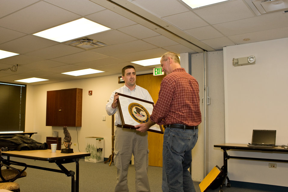 Ed Bangs Receives a Department of Justice Seal