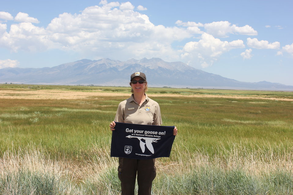 Suzanne Beauchaine, Alamosa National Wildlife Refuge Manager, Gets Her Goose On!
