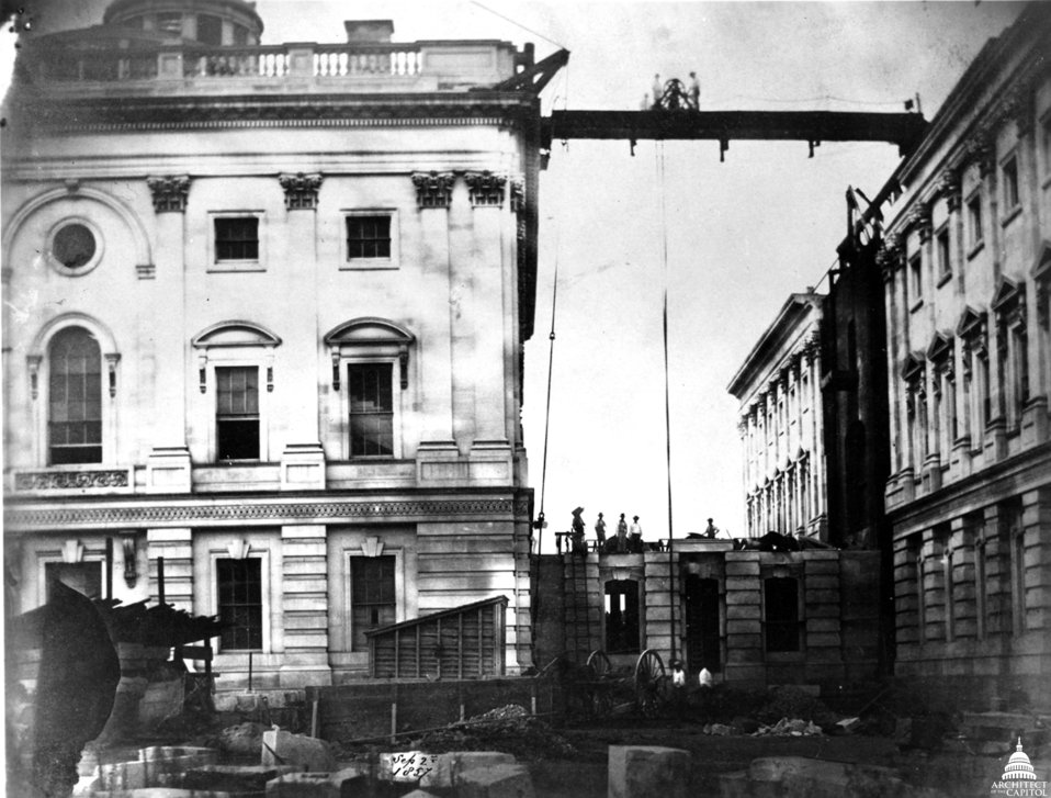 Senate Connecting Corridor under Construction 1857