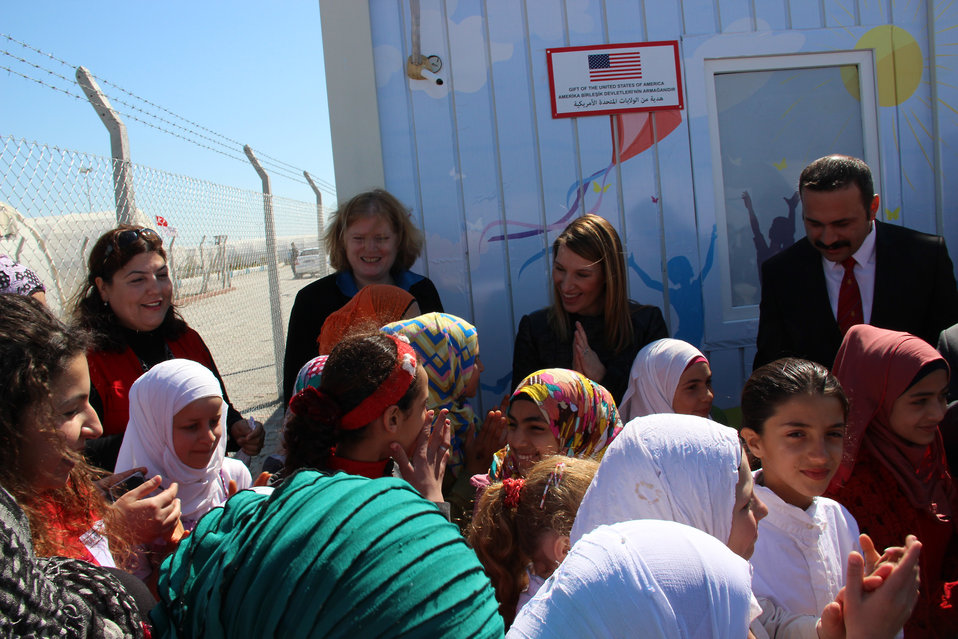 Deputy Secretary Higginbottom and Assistant Secretary Richard Spend Time With Syrian Refugee Children