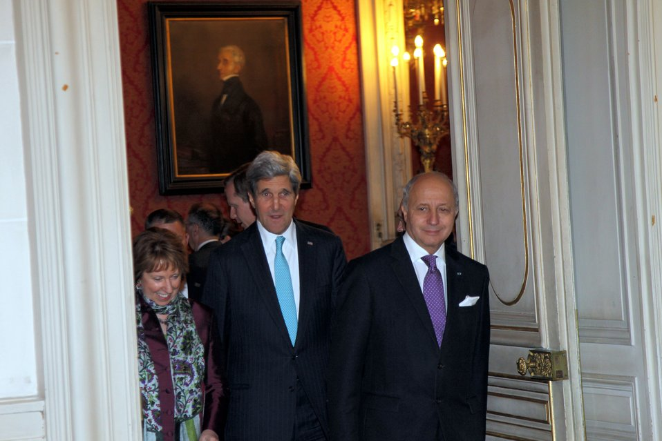 Secretary Kerry, EU High Representative Ashton, and French Foreign Minister Fabius