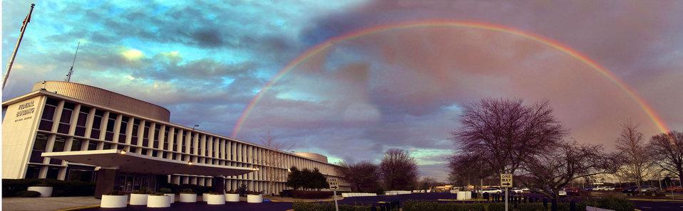 Rainbow Over DOE Oak Ridge Federal Building