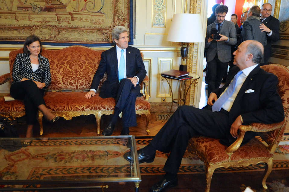 Secretary Kerry, Assistant Secretary Nuland Meet With French Foreign Minister Fabius