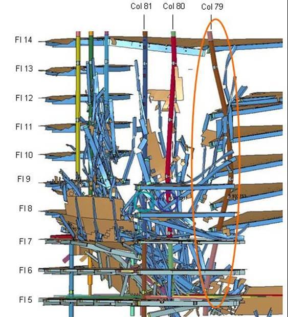 Buckling of WTC7 Column 79