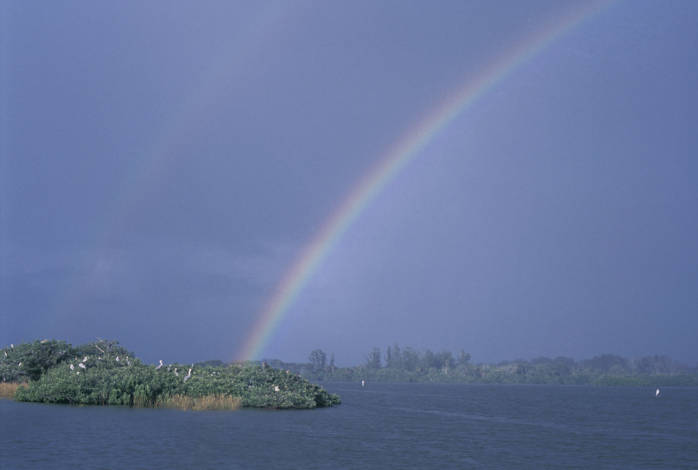 rainbow over Pelican Island