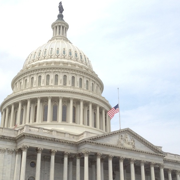Flag at half-staff at the Capitol as mark of respect for victims in Oak Creek, Wisconsin.