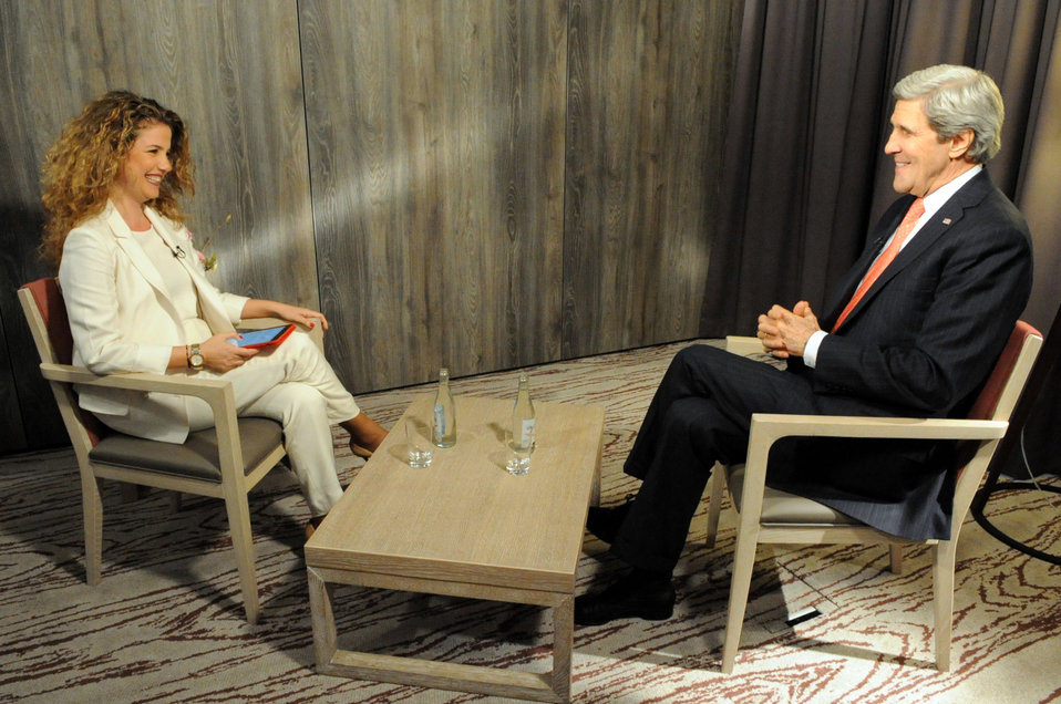 Secretary Kerry Sits With Al Arabiya for Interview Amid World Economic Forum