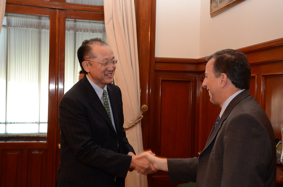 Dr. Jim Yong Kim Meeting with Mexican Finance Secretary Jose Antonio Meade