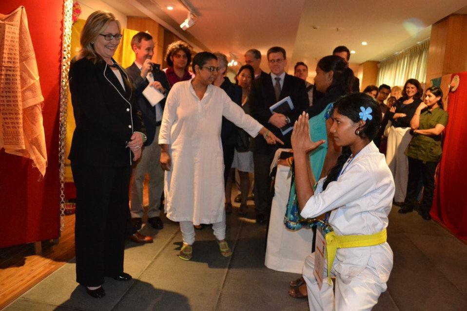 Secretary Clinton Attends the Anti-Trafficking Champions Event