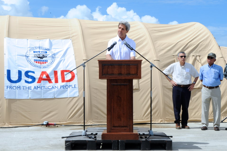 Secretary Kerry Announces $25 Million in Fresh U.S. Recovery Aid for Typhoon Haiyan Victims