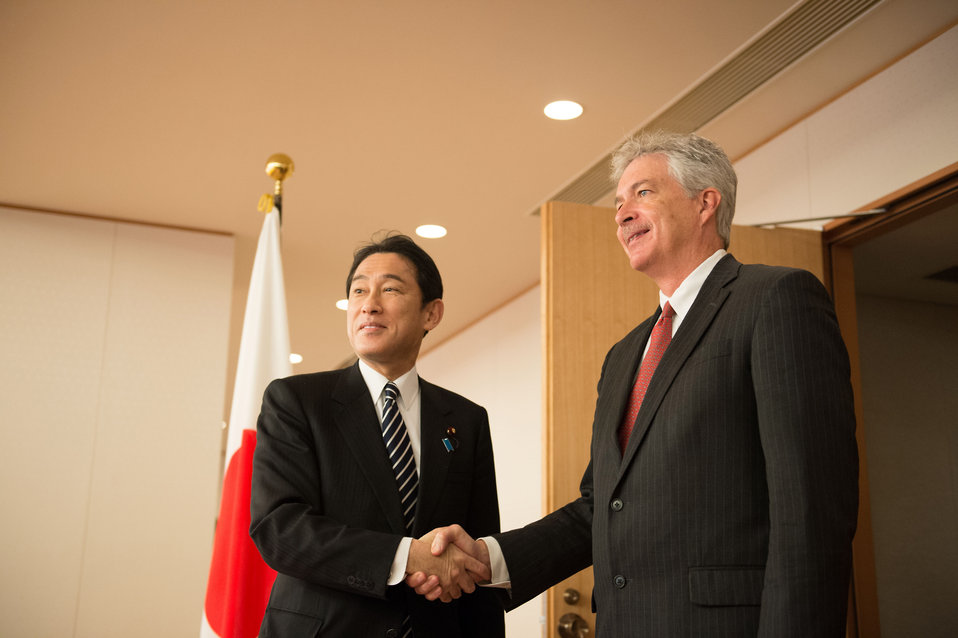 Deputy Secretary Burns Meets Japan's Foreign Minister Kishida