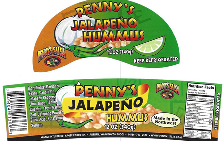 RECALLED – HummusPennys Jalapeno Hummus 12oz