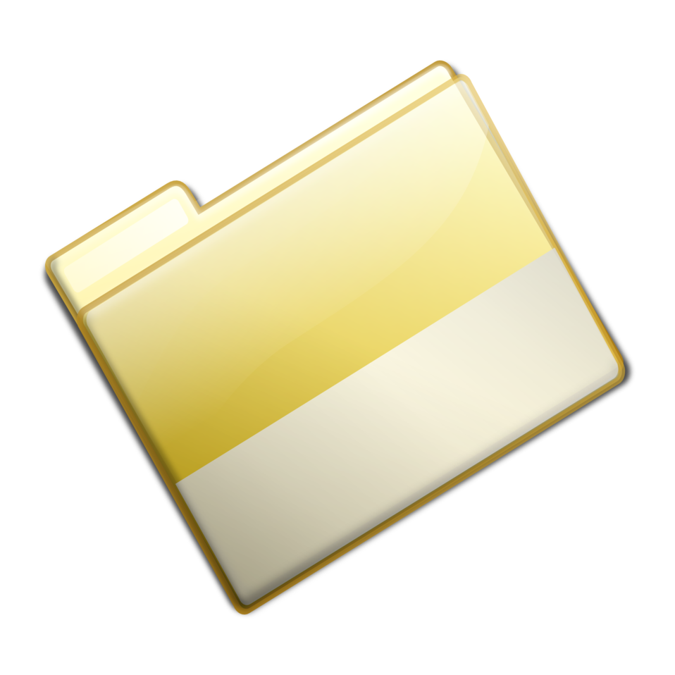 Closed Simple Yellow Folder