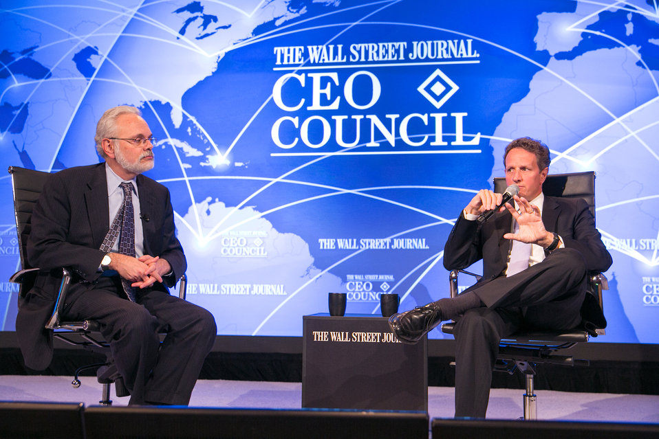 Secretary Geithner interviewed at the Wall Street Journal CEO Council