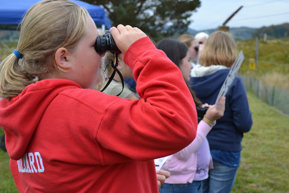 Youth Birders at Wild School event