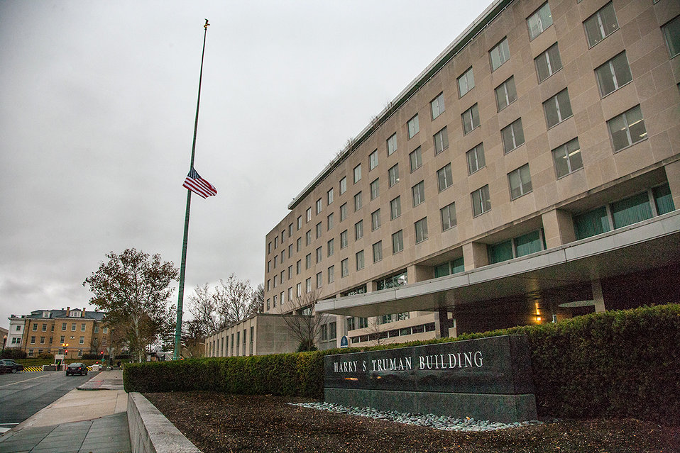 The State Department's Flag Flies at Half-Staff in Honor of Former South African President Mandela